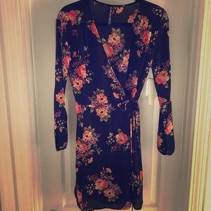 Design Lab Floral Wrap Dress